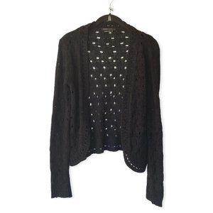 BCBGMaxAzria Black Knitted Cardigan Sweater